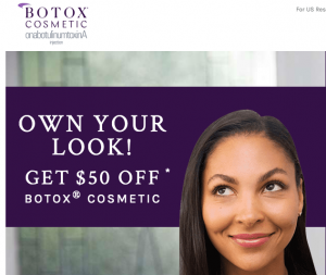 Botox Cosmetic Special: $50 OFF!
