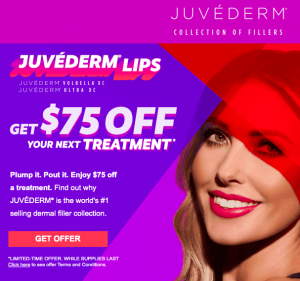 Juvederm special offer